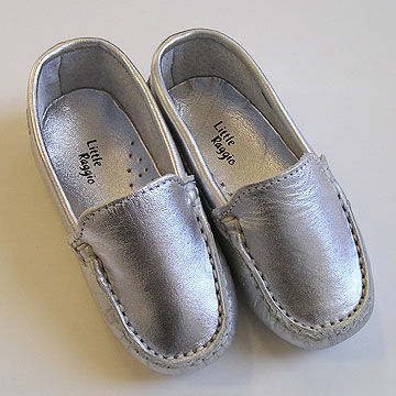 Little Raggio Silver Leather Baby Moccasin