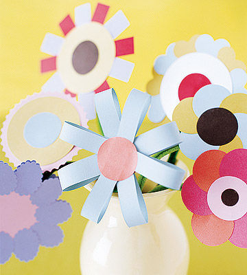 Craft paper bouquet