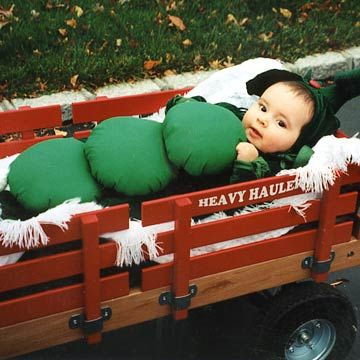 Casey The Peapod Riding In Wagon