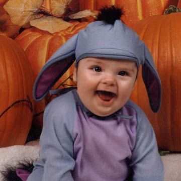 Baby In Eyeore Costume