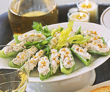 Nutty Cream Cheese-Stuffed Celery