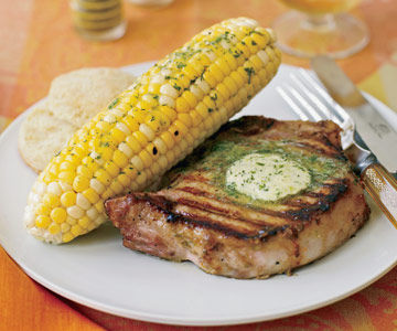 Grilled Corn with Lime Butter