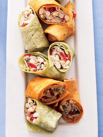 Tuna & White Bean Wraps