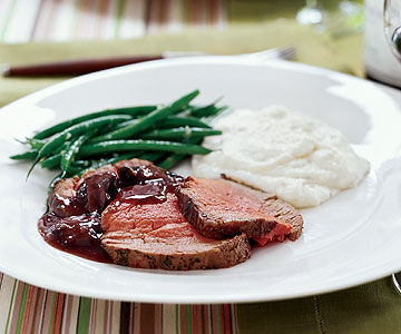 Roast Beef Tenderloin with Mushroom Sauce