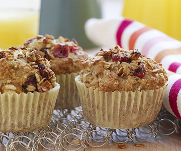 Apple-Cranberry Millet Muffin