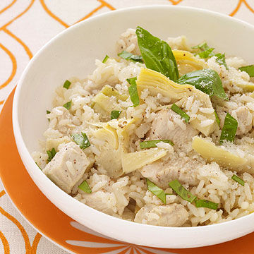 "Chicken and Artichoke ""Risotto"""