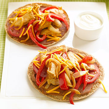 Chicken Fajita Pitas
