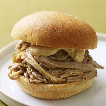 Slow-Cooker Cajun Pork Sandwiches