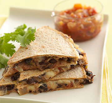Bean and Cheese Quesadillas