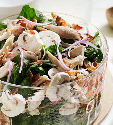 Spinach Salad with Chicken