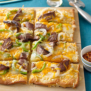 Smoky Philly Cheesesteak Pizza