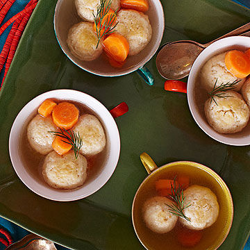Mini-Matzoh Ball Soup