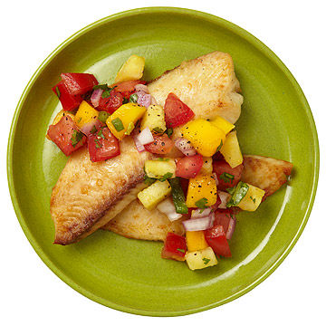 Broiled Fish With Fruit Salsa