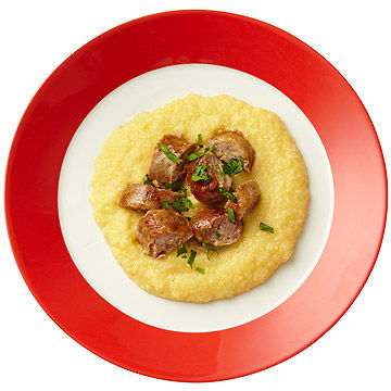 Polenta with Sweet Italian Sausage