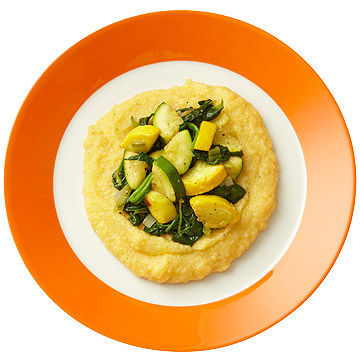 Polenta with Summer Squash and Spinach