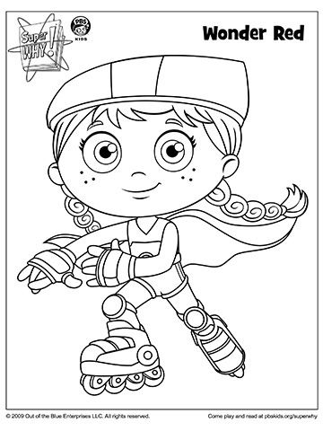 Super Why's Wonder Red Skates