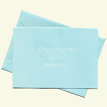 Crane thank you card