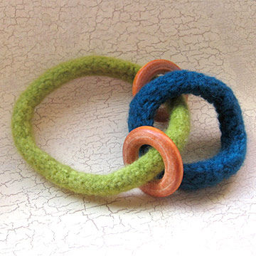 Felt and Wood Rings