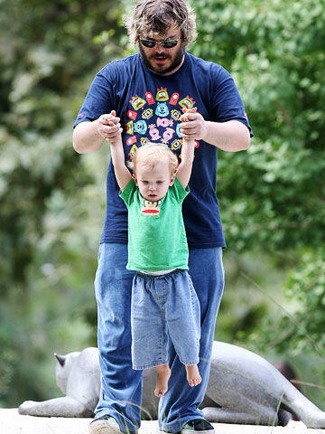 Jack Black with son