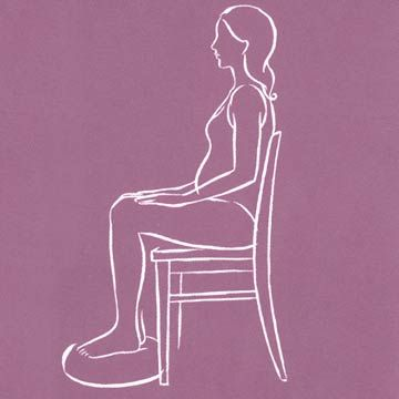 Healthy Sitting Position in Chair