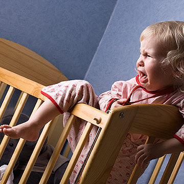 toddler crying in crib