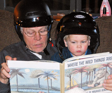 Reading with Grampa