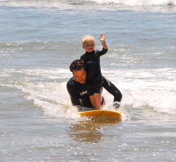 Surfing with Daddy