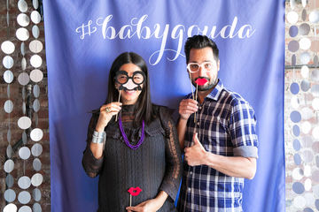 Photo booth ideas for co-ed baby showers