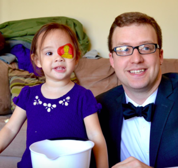geof and layla grubb with oscars eye patch