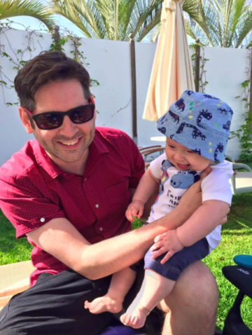Facebook's 'Man vs. Baby' dad nails the truth about vacationing with a baby.
