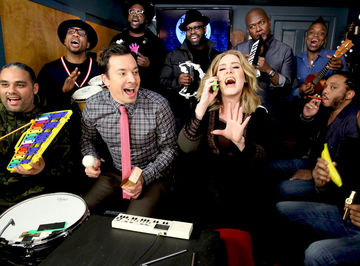 Adele and Jimmy Fallon singing Hello