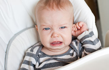 baby with ear infection
