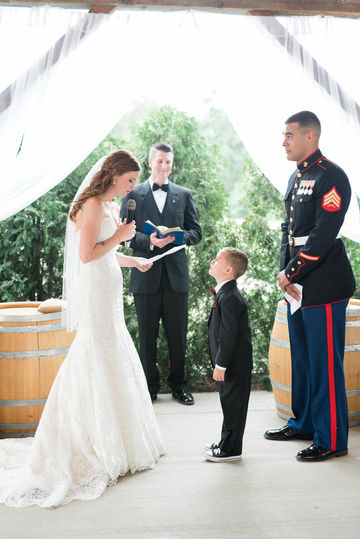 bride writes vows for step-son