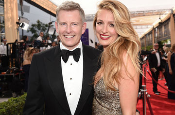 Cat Deeley and Patrick Kielty at Emmys 2015