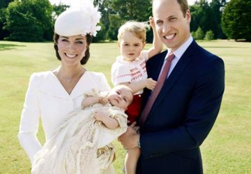 Princess Charlotte's christening with Duchess Kate, Duke William and Prince George