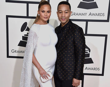 Chrissy Teigen and John Legend at Grammys 2016
