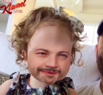 Jimmy Kimmel face swap with daughter Jane