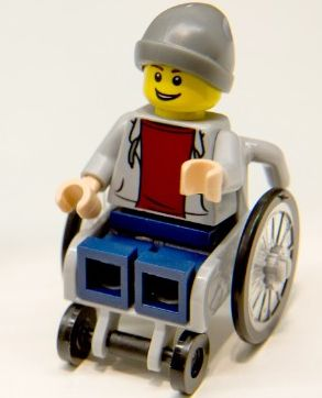 Lego boy with wheelchair