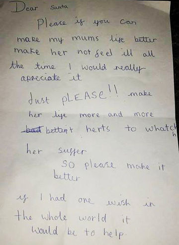 little girls letter to Santa