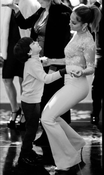 Jennifer Lopez and son Max dancing, Instagram photo