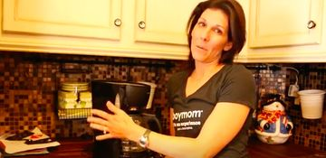 meredith masony loves her coffee maker