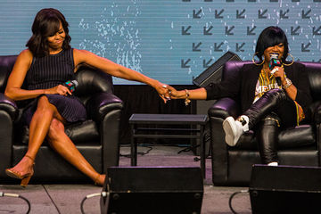 Michelle Obama and Missy Elliott