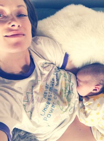 olivia wilde on breastfeeding baby #2