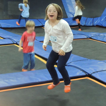 Penny at the trampoline park