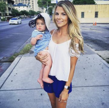 Samantha Ponder and daughter Scout