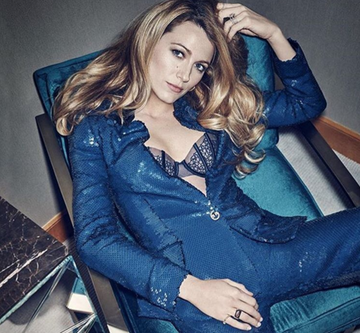 On Instagram, Blake Lively shared an image from her photo shoot for the July 2016 issue of Marie Claire