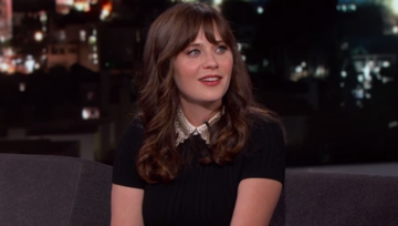 zooey deschanel on jimmy kimmel