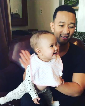 john legend and 6-month-old luna