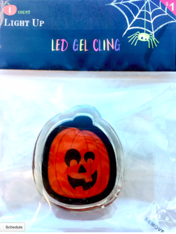 target halloween led gel cling recall