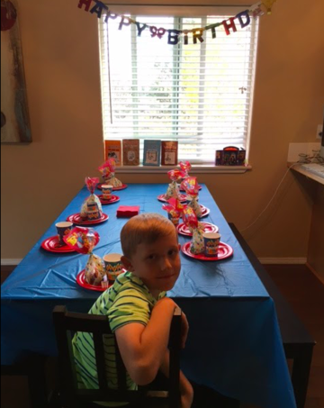 mahlon at empty birthday party